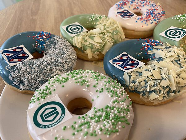 Voetbal donuts